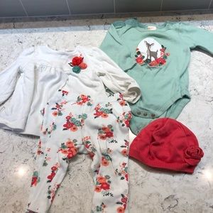 Gymboree deer and floral outfits